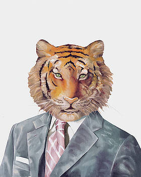 Tiger in Armani by Animal Crew