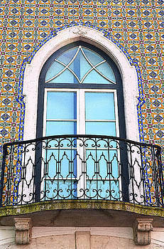 Tiled Balcony in Lisbon by Kathy Yates
