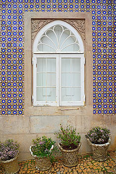 Tiled Wall in Sintra Portugal by Kathy Yates