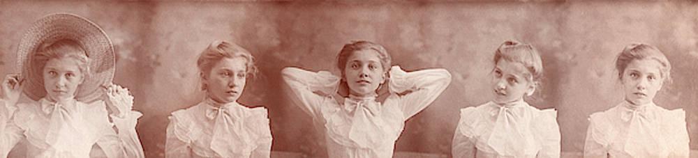 Timeless Beauty - Vintage Girl Panorama by Jayson Tuntland
