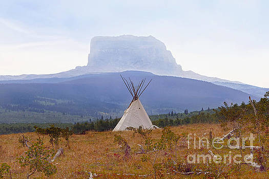 Tipi at Chief Mountain by Catherine Sherman
