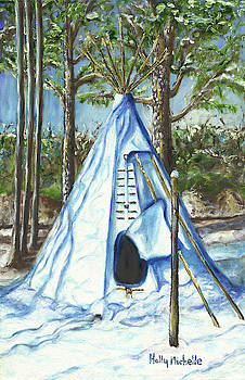 Tipi In The Snow by Holly Michelle Hargus