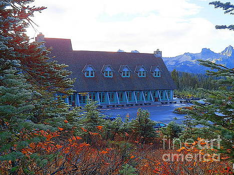 To Stay And Discover Paradise Inn Mount Rainier National Park Washington by Art Sandi