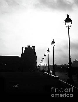Felipe Adan Lerma - To the Tuileries Paris Lamps BW Vertical