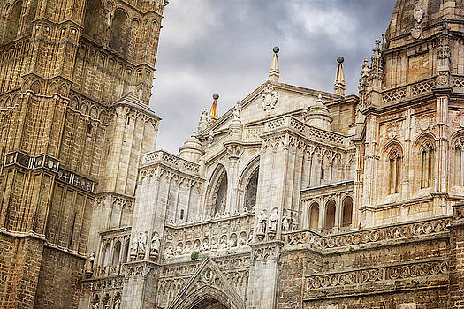 Toledo Spain Cathedral Facade by Joan Carroll
