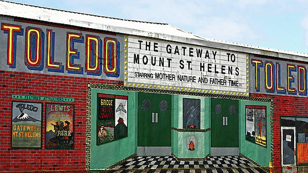 Toledo - The Gateway to Mount St Helens  by Connie Fox