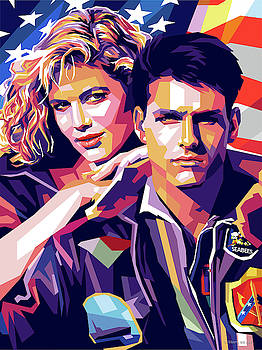 Tom Cruise and Kelly McGillis by