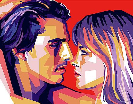 Tom Cruise and Nicole Kidman by Stars on Art
