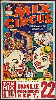 Tom Mix Circus - Vintage Advertising Poster by Siva Ganesh