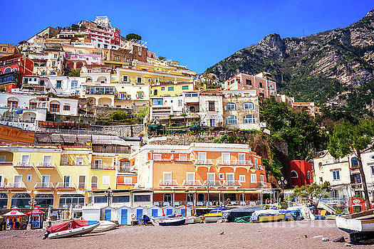 John Rizzuto - Top View at Positano Beach in Italy