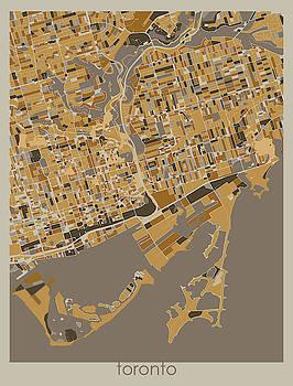 Toronto Map Retro 4 by Bekim M