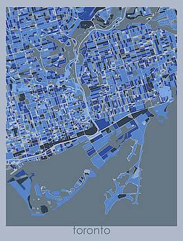 Toronto Map Retro 5 by Bekim M