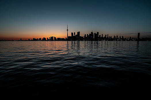 Toronto skyline at dusk  by Sven Brogren