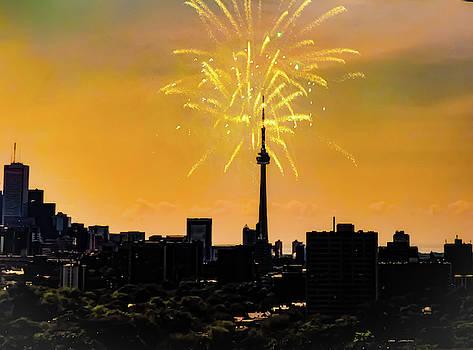 Toronto Skyline With A Sparkle by Kathy Gail
