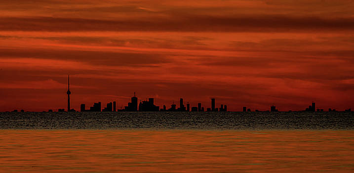Toronto sunset by Johnathan Erickson