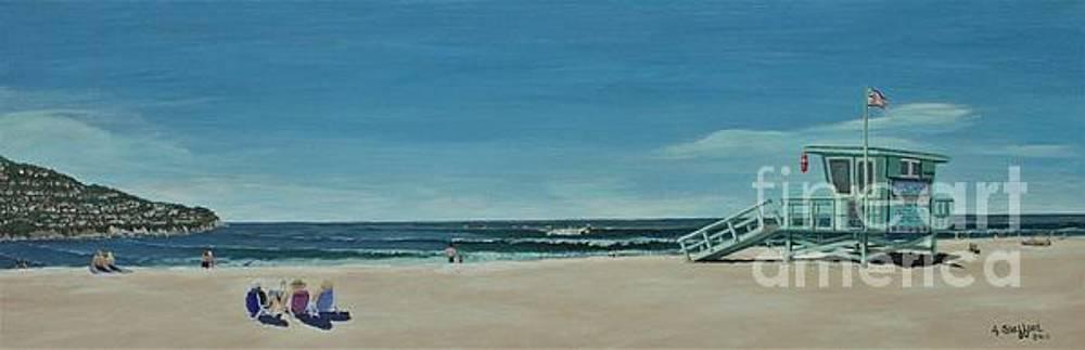 Torrance Lifeguard Station by Angela Stafford