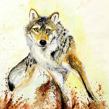 Totem Wolf Gray wolf by Belette Le Pink