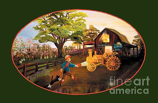 Tractor and Barn by Donna Hall