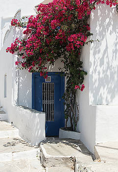 Traditional Greek island house entrance by Michalakis Ppalis
