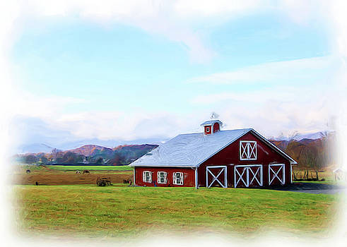 Traditional Red Barn by Seth Solesbee