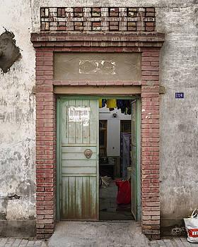 Traditional Siheyuan Gate Dunhuang Gansu China by Adam Rainoff