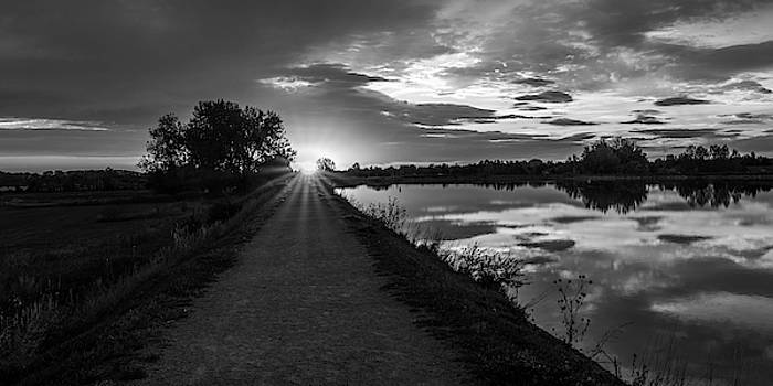 Trail To The Sun In Black And White by Michael Putthoff