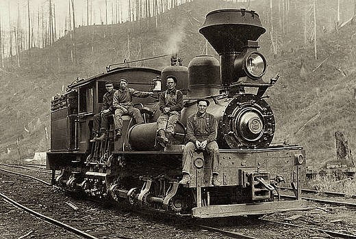 Lumber Locomotive - Coos Bay, Oregon by Jayson Tuntland