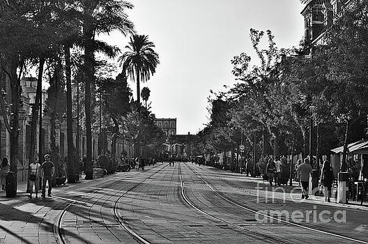 Train track in Seville by Angelo DeVal