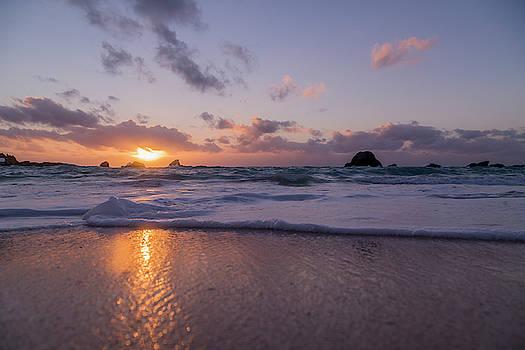 Tranquility Coastal Sunrise by Betsy Knapp
