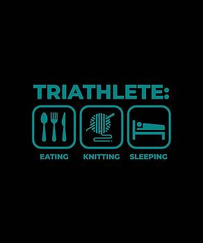 Triathlete Eating Knitting Sleeping 2 by Kaylin Watchorn