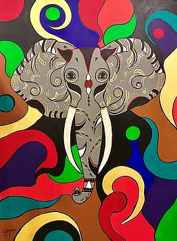Tribal Elephant by Carla J Lawson