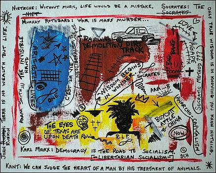 Tribute to Basquiat, Philosophy, and Activism by Scott Haley