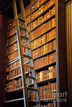 Bob Phillips - Trinity College Library Books and Ladder