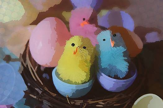 Cathy Lindsey - Trio Of Easter Chicks 4