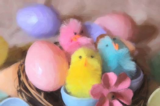 Cathy Lindsey - Trio Of Easter Chicks 7