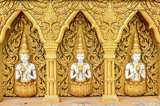 Triple Buddhas, Thailand by Ian Robert Knight