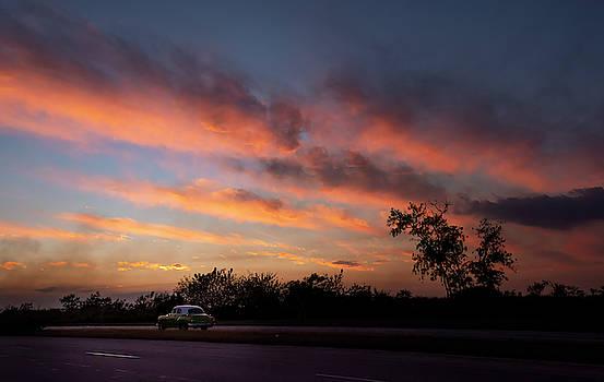 Tropical Cuba Sunset by Joan Carroll