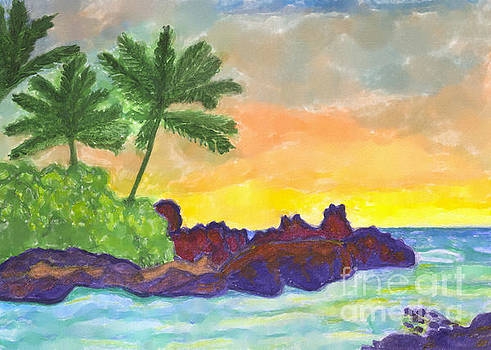Tropical island in the ocean by Irina Dobrotsvet