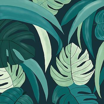 Tropical Leaves by Gabriella Weninger - David