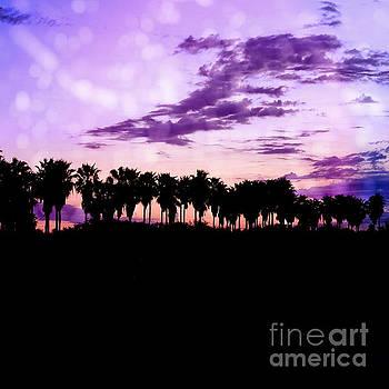 Tropical Palms Silhouette Landscape by Ella Kaye Dickey