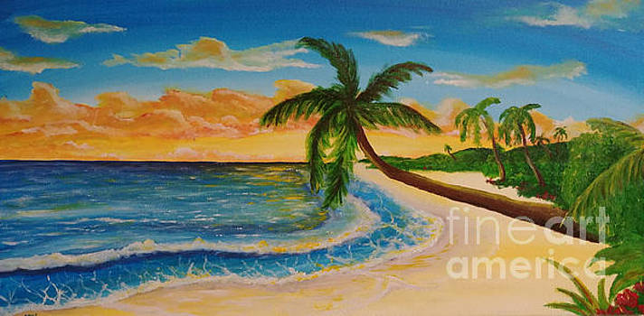 Tropical sunset by Heather James