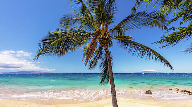 Tropical view of Kamaole Beach Maui Hawaii by Pierre Leclerc Photography