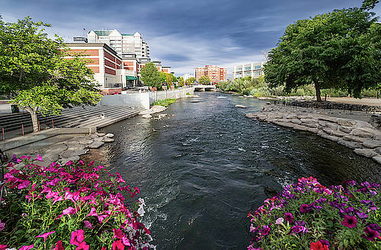Truckee River Downtown Reno by Janis Knight