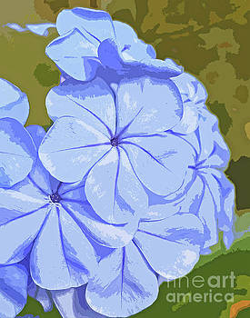 True Blue Blossom Abstract 300 by Sharon Williams Eng
