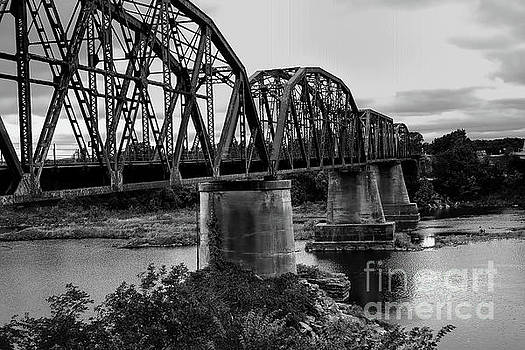 Truss Bridge In Black and White by Diana Mary Sharpton