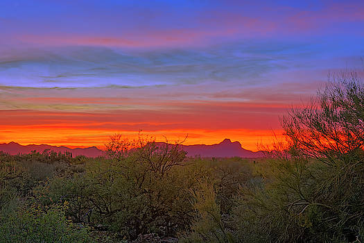 Tucson Sunset h55 by Mark Myhaver