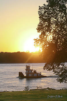 Tugboat on Mississippi River by Christopher Meade