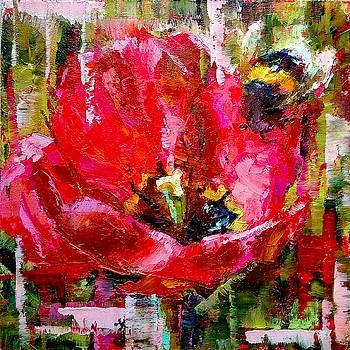 Tulip and Bee by Valerie Lazareva