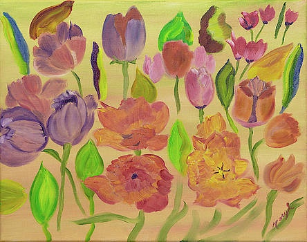 Tulip Showers by Meryl Goudey