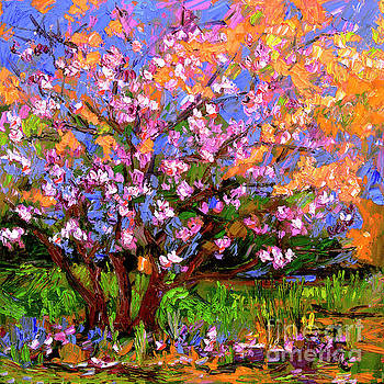 Ginette Callaway - Tulips Magnolia Impressionist Oil Painting